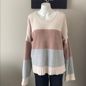 THREAD & SUPPLY Long Sleeve StripePullover Sweater